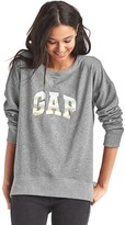 Gap Stripe logo applique slouchy sweatshirt