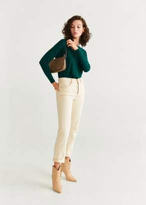 MANGO Knit cotton sweater light/pastel grey - XS - Women