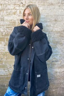 BDG Black Denim Donkey Jacket - Black XS at Urban Outfitters