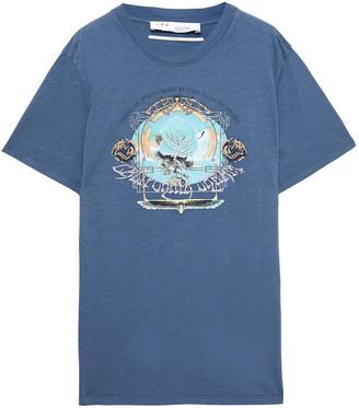 IRO Printed Cotton-jersey T-shirt