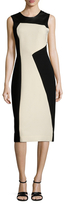 Prabal Gurung Leather Panel Sheath Dress