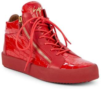 Giuseppe Zanotti Mid-Top Leather Sneakers