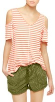 Sanctuary Women's Dahlia Stripe Cold Shoulder Tee