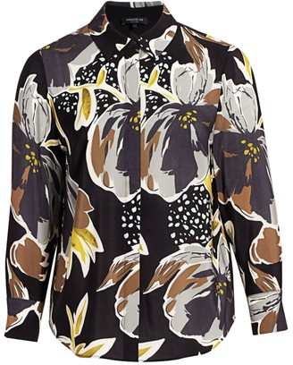 Lafayette 148 New York, Plus Size Scottie Floral Blouse