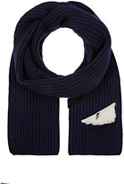 Fendi MEN'S MONSTER EYES WOOL SCARF
