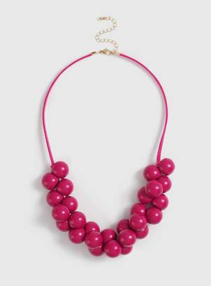 Evans Pink Ball Collar Necklace