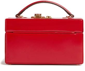Mark Cross 1845 Mini Patent Leather Trunk Top Handle Bag