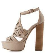 Charlotte Russe Laser Cut Platform Sandals