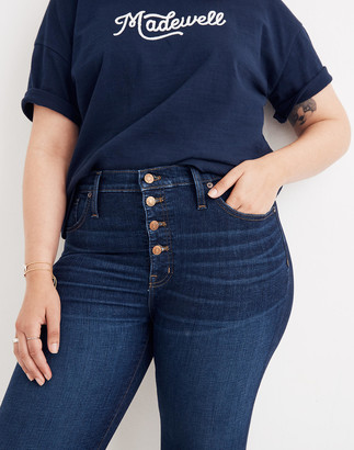 """Madewell Tall 9"""" Mid-Rise Skinny Jeans in Hayes Wash: Button-Front Edition"""