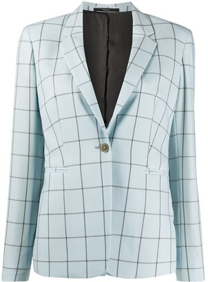 Paul Smith Check Fitted Blazer