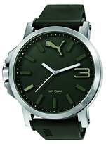 Puma Ultrasize 50 Men's Quartz Watch with Green Dial Analogue Display and Green Plastic Strap PU103461013