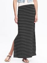 Old Navy Jersey Side-Slit Maxi Skirt