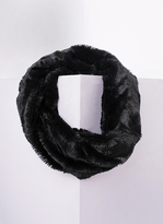 Missy Empire Inga Black Fluffy Infinity Scarf