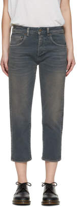 6397 Grey Classic Shorty Jeans