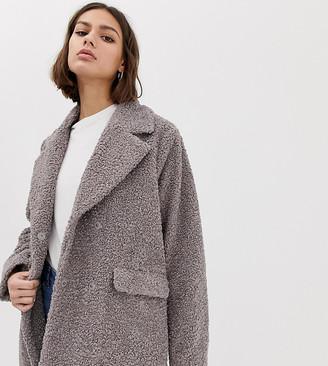 Ichi Teddy Coat-Grey