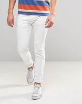 Levis 510 Skinny Fit Orange Tab Jeans Orange White Wash