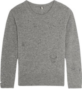 R 13 Distressed cashmere sweater