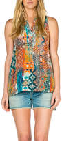 Tolani Sleeveless Silk Tank Top