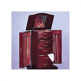 COASTER Ambfurniture.Com Deluxe 7 Drawer, 2 Door Queen Anne Style Jewelry Armoire Mahogany Finish Wood