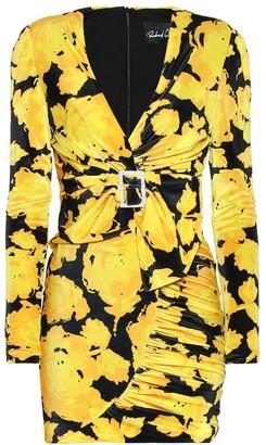 Richard Quinn Floral jersey minidress
