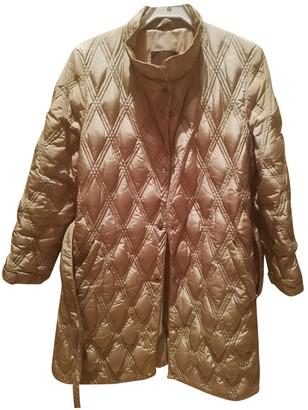 Moncler Long Beige Synthetic Coats
