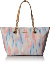 Calvin Klein Nylon Chain Tote Bag