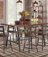 Graphite & Brown Seven-Piece Wine-Rack Dining Set