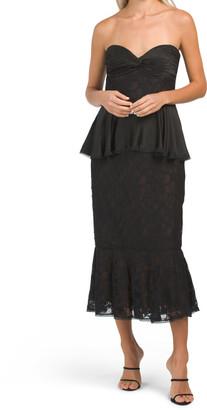 Asymmetrical Ruffle Midi Dress