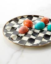 Mackenzie Childs MacKenzie-Childs Courtly Check Enamel Egg Plate