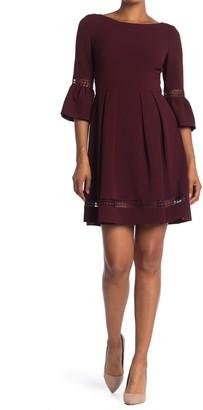 Brinker & Eliza Bell Sleeve Fit & Flare Dress