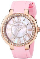 Oceanaut Women's OC6416 Allure Gold-Tone Stainless Steel Watch with Pink Rubber Band