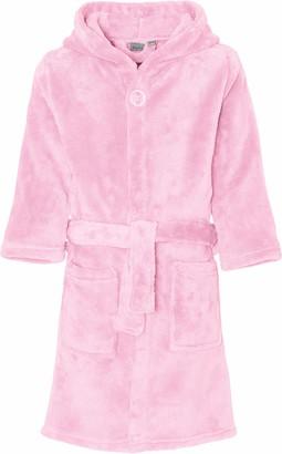 Playshoes Baby Girls' Fleece-Bademantel uni Bathrobe