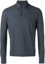 Zanone long sleeve polo shirt - men - Cotton - 46
