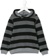 Il Gufo striped hoodie
