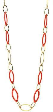 Vhernier Women's Pop 18K Rose Gold & Rebuilt Red Coral Long Chain Necklace