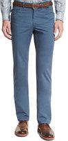 Brioni Five-Pocket Twill Pants, Blue