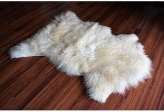 "Bui Animal Print Handmade 2'6"" x 3' Sheepskin Cream Indoor / Outdoor Area Rug Millwood Pines"