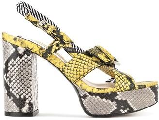 No.21 Snakeskin Print Sandals