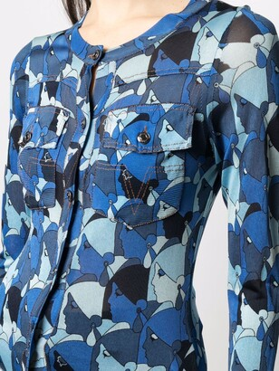 John Galliano Pre-Owned 2000s Faces Print Buttoned Cardigan