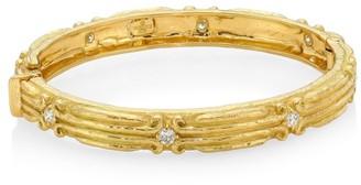 Katy Briscoe Coskey's Column 18K Yellow Gold & Diamond Bangle Bracelet