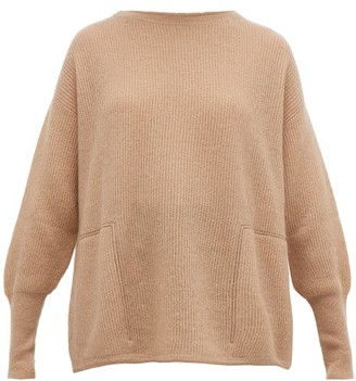 Brunello Cucinelli Monili-trimmed Ribbed Sweater - Womens - Light Brown