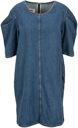 MM6 MAISON MARGIELA Puff Sleeves Denim Dress