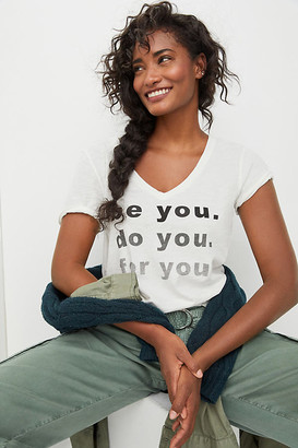 Sol Angeles Be You Graphic Tee By in White Size XS