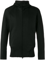 Y-3 zip up hooded jacket - men - Polyester/Spandex/Elastane - L