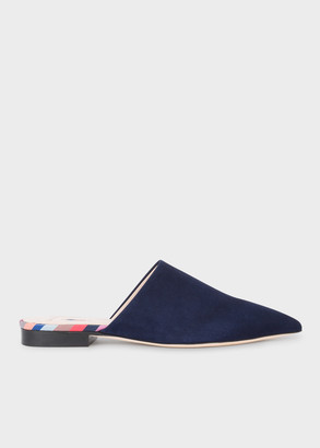 Paul Smith Women's Navy Suede 'Cyprian' Shoes