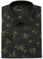 Bar III Men's Slim-Fit Stretch Easy Care Green Midnight Scattered Floral-Print Dress Shirt, Created for Macy's
