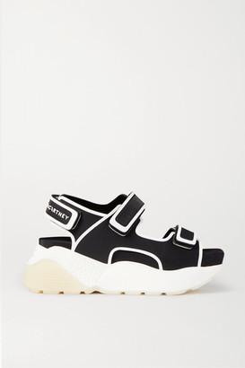 Stella McCartney Logo-print Neoprene Platform Sandals - Black
