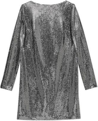 Gucci Metallic dotted jersey dress