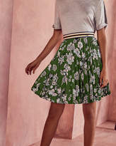Ted Baker Floral print pleated skirt