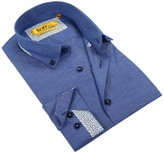 Brio Long Sleeve Tailor Fit Chambray Dress Shirt
